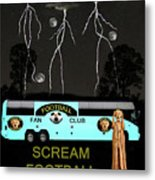 Football Tour Scream Metal Print