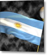 Football World Cup Cheer Series - Argentina Metal Print