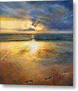 Footprints Metal Print by Helen Parsley