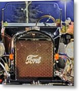 Ford Black Hot Rod Old School Metal Print by Pictures HDR