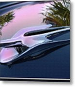 Ford Hood Ornament 56 Metal Print