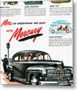 Ford Mercury Ad, 1946 Metal Print