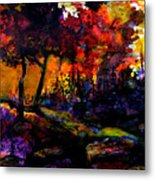 Forest Flames Metal Print