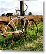 Forgotten Bicycle Metal Print