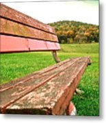 Forgotten Park Bench Metal Print