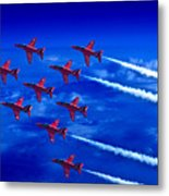 Formation Flying Britains Red Arrows Metal Print
