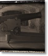 Fort Sumpter Cannon Metal Print