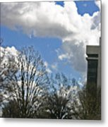 Fountain And Clouds Metal Print