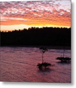 Four Elements Sunset Sequence 5 Coconuts Qld  Metal Print