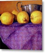 Four Lemons Metal Print