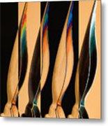 Four Pen Nibs Metal Print by Carol Leigh