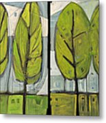 Four Seasons Tree Series Metal Print