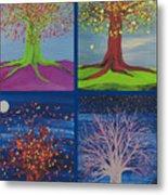 Four Seasons Trees By Jrr Metal Print