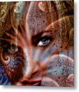 Fractal Eyes Metal Print