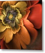 Fractal Pansy Metal Print by John Edwards