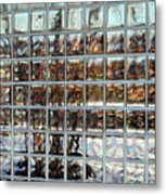 Fractured Reflections Metal Print