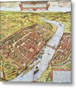 Frankfurt, Germany, 1572 Metal Print
