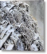 Freezing Falls Metal Print