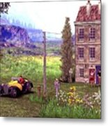 French Countyside  Scene Metal Print