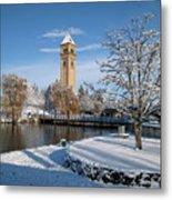 Fresh Snow In Riverfront Park - Spokane Washington Metal Print by Daniel Hagerman