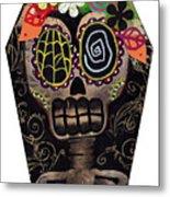 Frida In A Coffin Metal Print