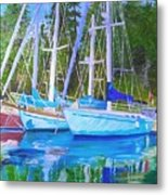 Friends Anchored Metal Print