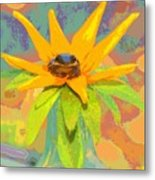 Frog A Lilly 2  - Photos Bydebbiemay Metal Print