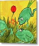 Frogs Metal Print