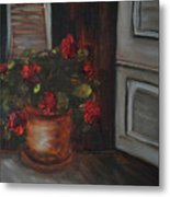 Front Porch Flowers Metal Print