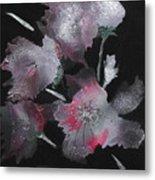 Frosty Flowers Metal Print