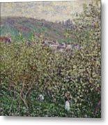 Fruit Pickers Metal Print
