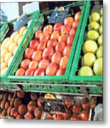 Fruit Stand Metal Print