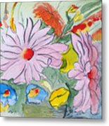 Fun Flowers Metal Print
