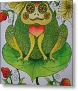Fun Frog II Metal Print