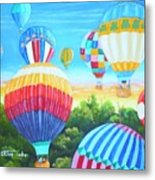 Fun With Balloons Metal Print