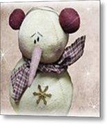 Fuzzy The Snowman Metal Print