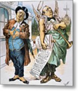 G. Cleveland Cartoon, 1892 Metal Print