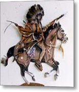 Galloping Along Metal Print