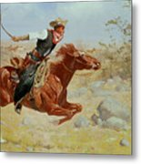 Galloping Horseman Metal Print