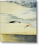 Gannet At Dusk Metal Print