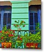 Garden Balcony Metal Print