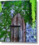 Garden Gate At The Highlands Metal Print