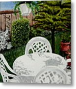 Garden Lights Metal Print