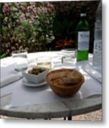 Garden Lunch Mallorca Metal Print