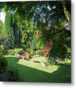 Garden Morning Metal Print