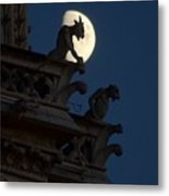 Gargoyle Night Watch Metal Print by Matthew Green