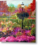 Gas Light In The Garden Metal Print