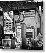 Gas Station On Route 66 Metal Print