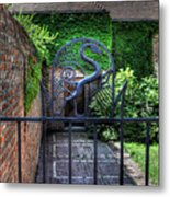Gate And Arch Metal Print