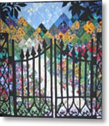 Gate Into The Garden Metal Print by Sarah Hornsby